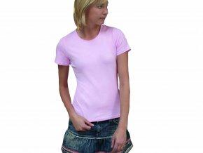 Dámské tričko s kulatým výstřihem, s elastanem, Fruit of the Loom