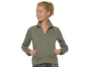 62 002 lady fit sweat jacket green