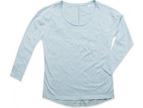 Volné tričko Sharon s dlouhými rukávy a kapsou