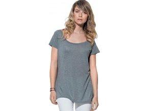 Prodloužené melírované dámské tričko Daisy