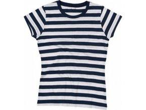 Dámské pruhované triko s krátkým rukávem Mantis