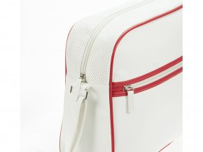 Dvoubarevná retro taška přes rameno Halfar, bílá - černá