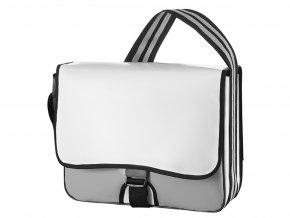 Brašna s pruhovaným popruhem přes rameno Lorrybag® Eco 2 Halfar white