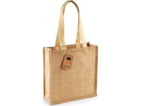 Nákupní jutová taška Westford Mill 10 l, 30 x 30 x 12 cm