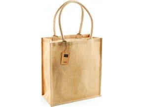 Nákupní jutová taška s dlouhými držadly Boutique Westford Mill 25 l