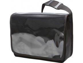 Taška přes rameno s průhlednou přihrádkou v klopě Display
