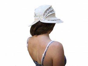 49790cc8764 Kód  KLOBOUK-HACKOVANY-15. Letní nebarvený klobouk ze 100% lnu ...