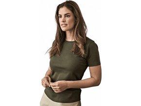 Dámské bavlněné interlock tričko Tee Jays