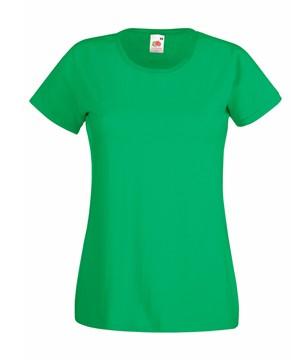 Klasické bavlněné tričko s kulatým výstřihem Barva: Tvrdě zelená, Velikost: XL