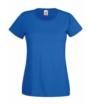 Klasické bavlněné tričko s kulatým výstřihem Barva: Královská modř, Velikost: S