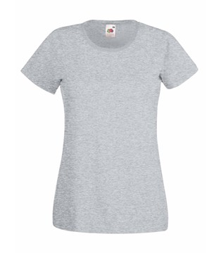Klasické bavlněné tričko s kulatým výstřihem Barva: Tmavý melír, Velikost: XL