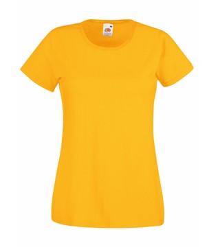 Klasické bavlněné tričko s kulatým výstřihem Barva: Slunečnicová, Velikost: XL