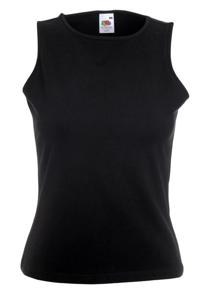 Dámské tričko bez rukávů 95% bavlna, 5% elastan Barva: Černá, Velikost: XS
