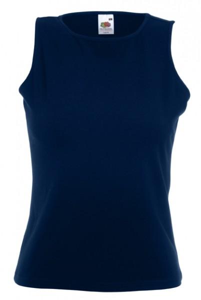 Dámské tričko bez rukávů 95% bavlna, 5% elastan Barva: Tmavě modrá, Velikost: M