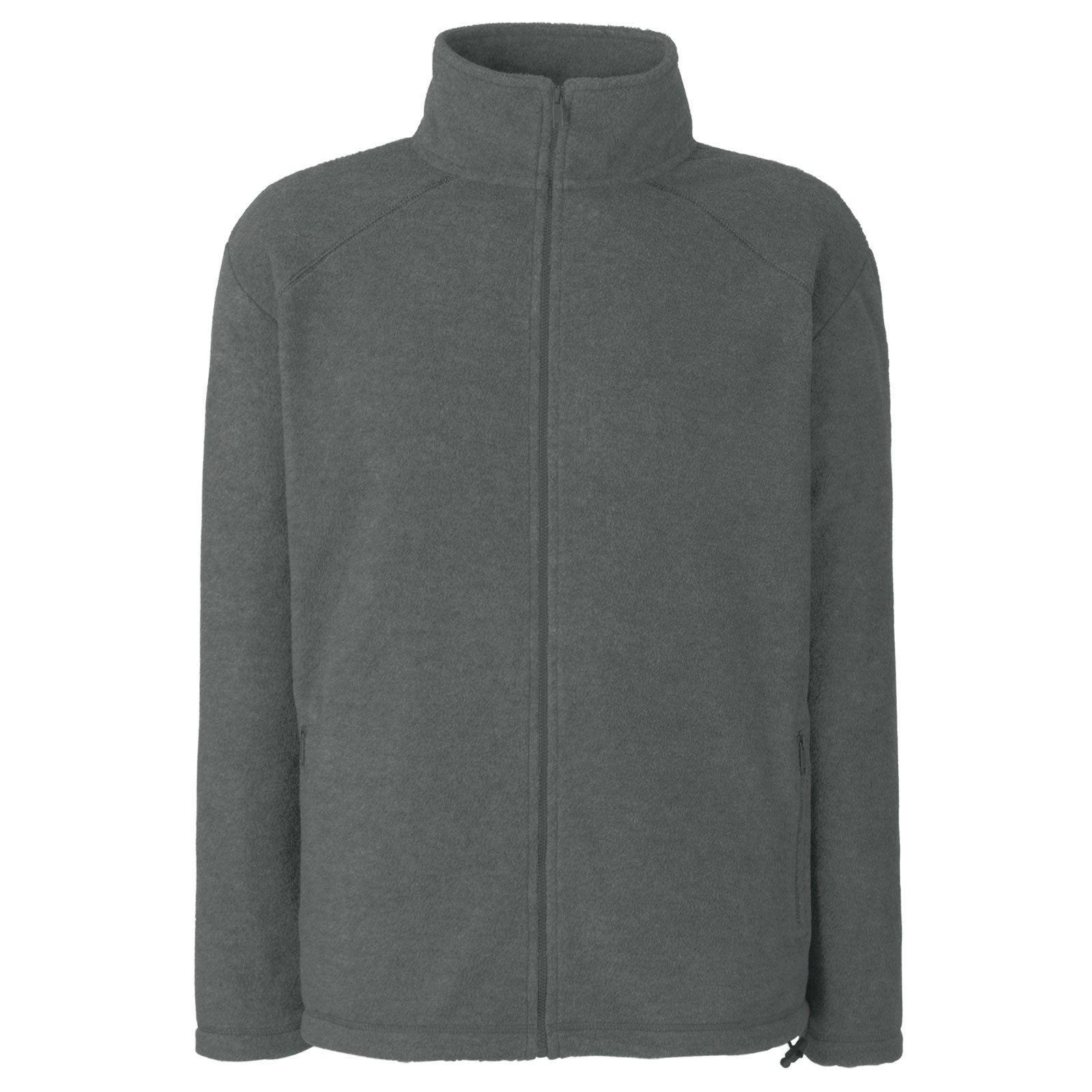 Pánská micro fleecová propínací bunda bez kapuce Barva: Kouřová šeď, Velikost: M