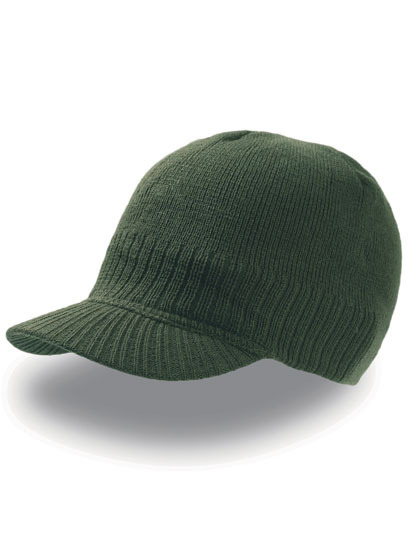 Pánská beanie čepice Walker s tvarovaným kšiltem Barva: Zelená lahvová