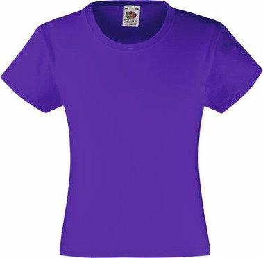 Dívčí základní bavlněné tričko Valueweight Fruit of the Loom Barva: Bílá, Velikost: 104