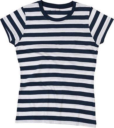 Dámské pruhované triko s krátkým rukávem Mantis Barva: modrá - bílá, Velikost: S