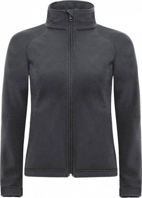 Dámská softshellová bunda s kapucí Barva: modrá azurová, Velikost: XS
