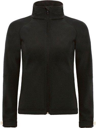 Dámská softshellová bunda s kapucí Barva: Červená, Velikost: XS