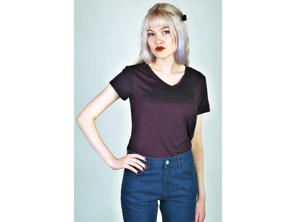 tričko dámské fialové