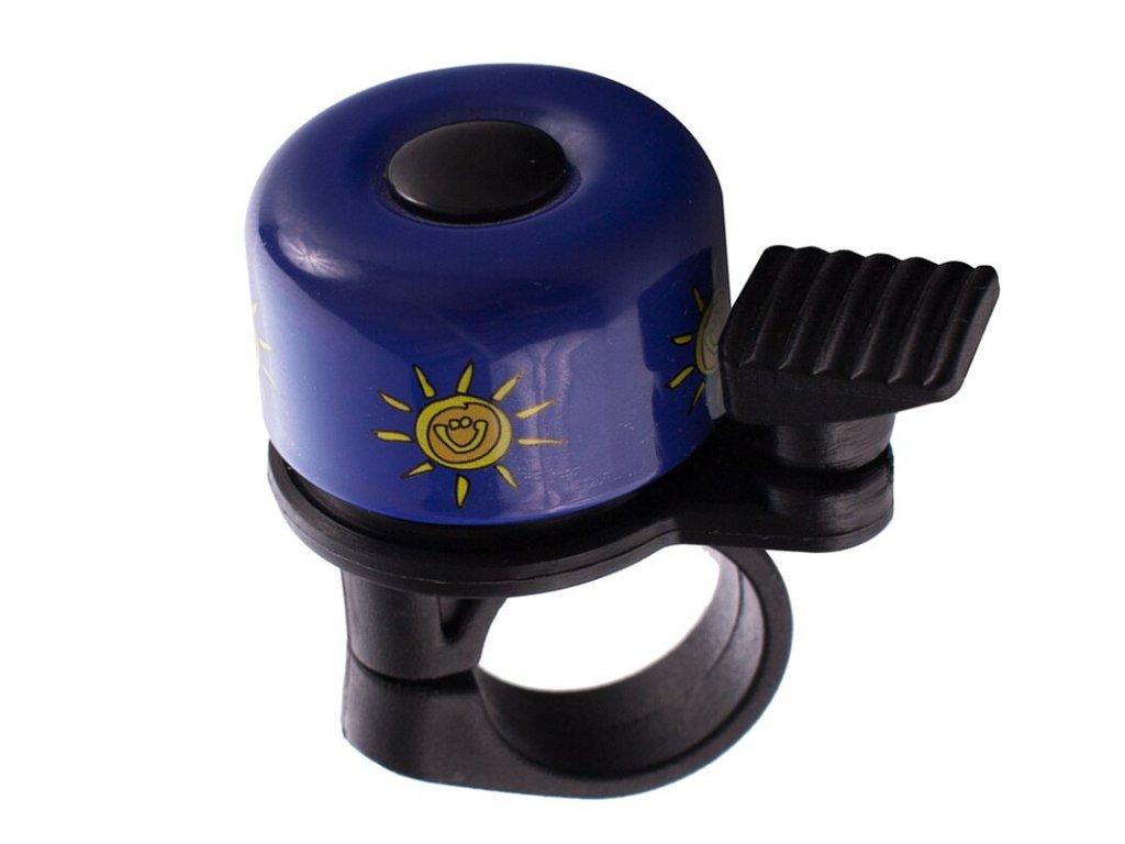 Zvonek na kolo Cink malý modrý