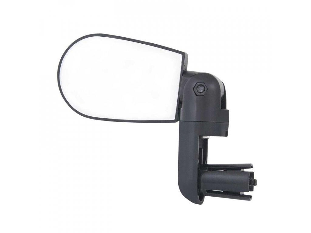 Zpětné zrcátko F mini na řídítka oboustranné, černé