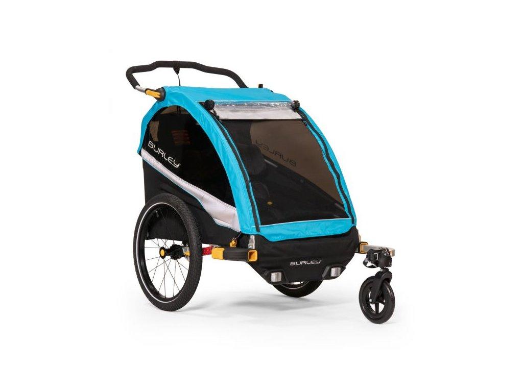 burley dlite x dvoumistny odpruzeny detsky vozik za kolo