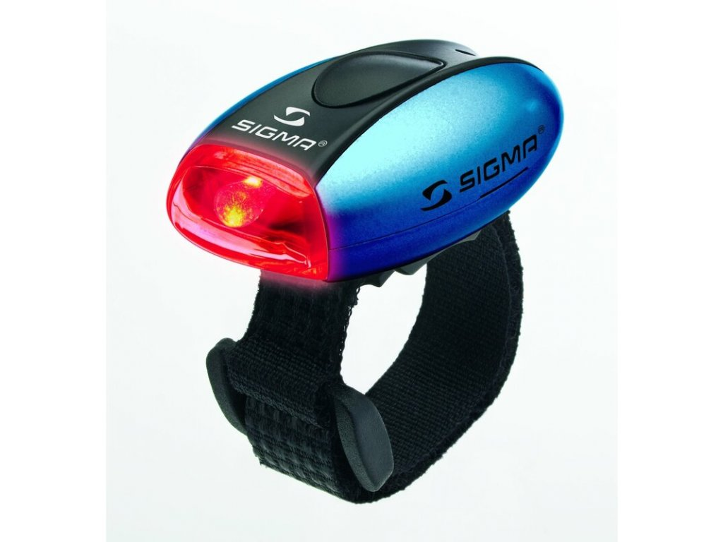 """Zadní světlo Sigma """"Micro"""" - modré, červená LED"""