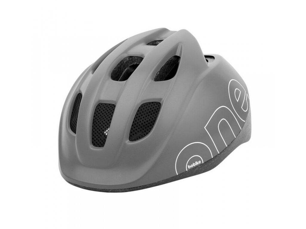 Dětská cyklistická přilba Bobike ONE - šedá S
