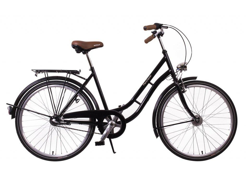 """Městské kolo v retro stylu Manchester 26"""" black"""