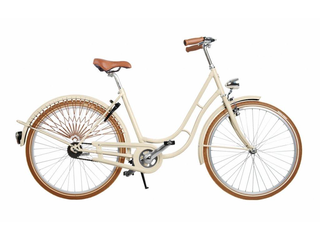 kolos no1 kremovy hnede pneu mestske kolo v retro stylu