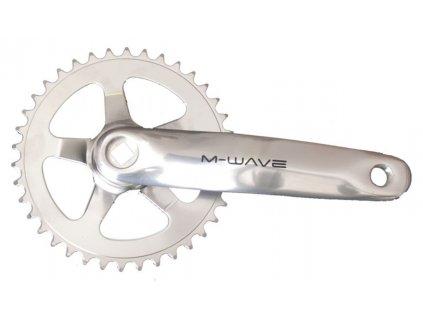 Hliníkové kliky na kolo M-Wave 38 zubů