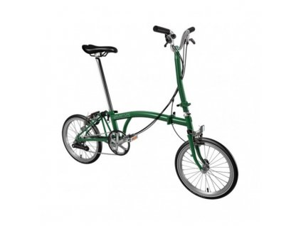 Brompton M6L skládací kolo zelené