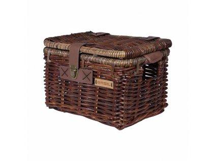 basil denton m bicycle basket front brown 01