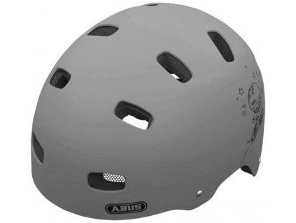 Cyklistická přilba ABUS Scraper šedá M
