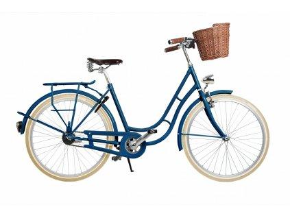 mestske retro kolo s kosikem kolos no1.modre