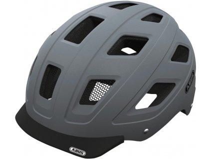 2145 cyklisticka prilba abus hyban concrete grey velikost m