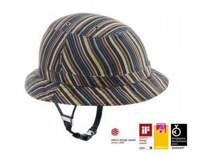 1053 cyklisticka helma yakkay tokyo colour stripe