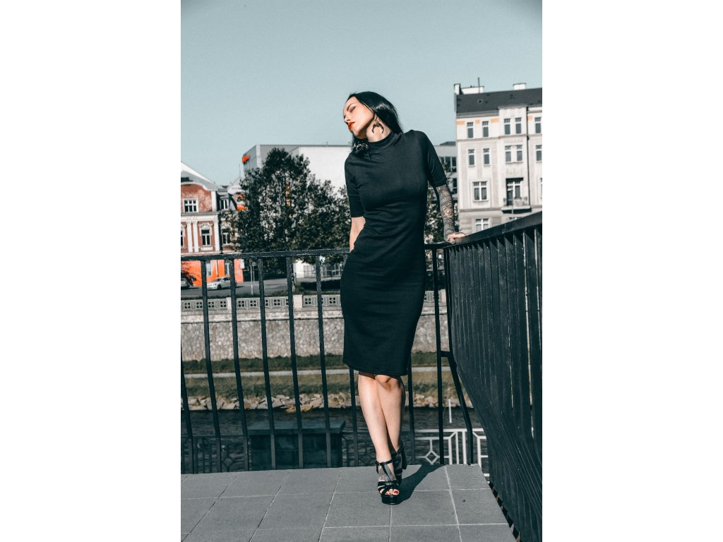 Šaty Silhouette 3/4 sleeve / Black