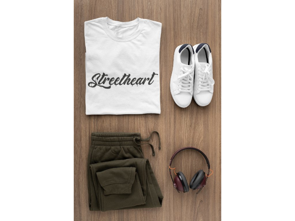 t shirt mockup of a flat lay outfit for men 29814