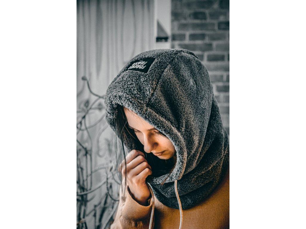 Hood - kapuce Fluffy béžová