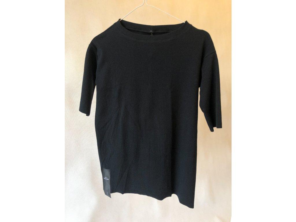 Triko Rib 3/4 sleeve Black