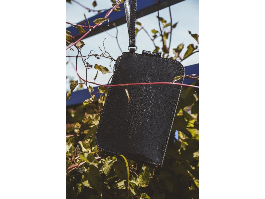 Malá kabelka PLBG / CF Černá koženka