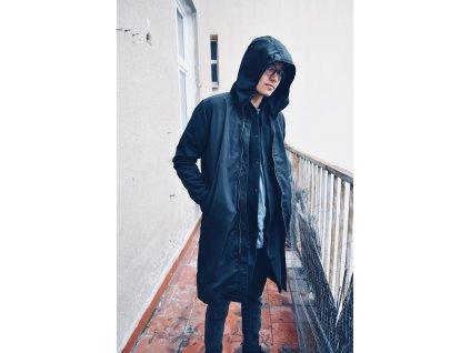 Bomber Hood Long Black
