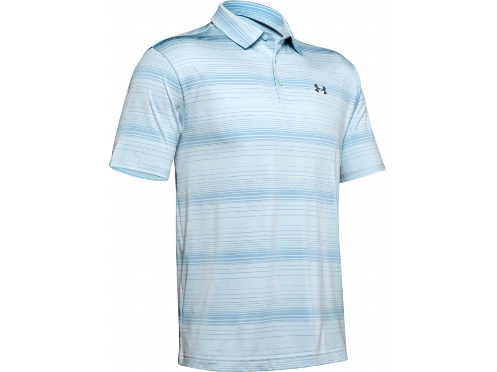Under Armour Playoff Polo 2 Launch, Coded Blue, Boho Blue, Pitch Gray