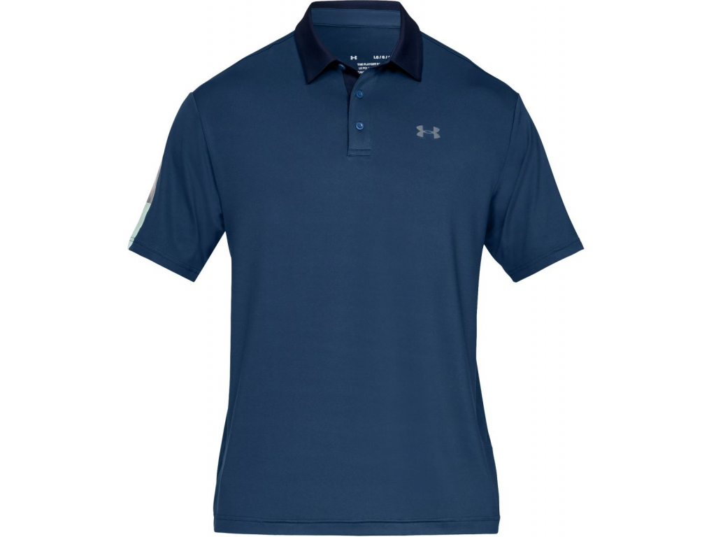 Under Armour Playoff Polo 2 Wedge, Petrol Blue, Pitch Gray