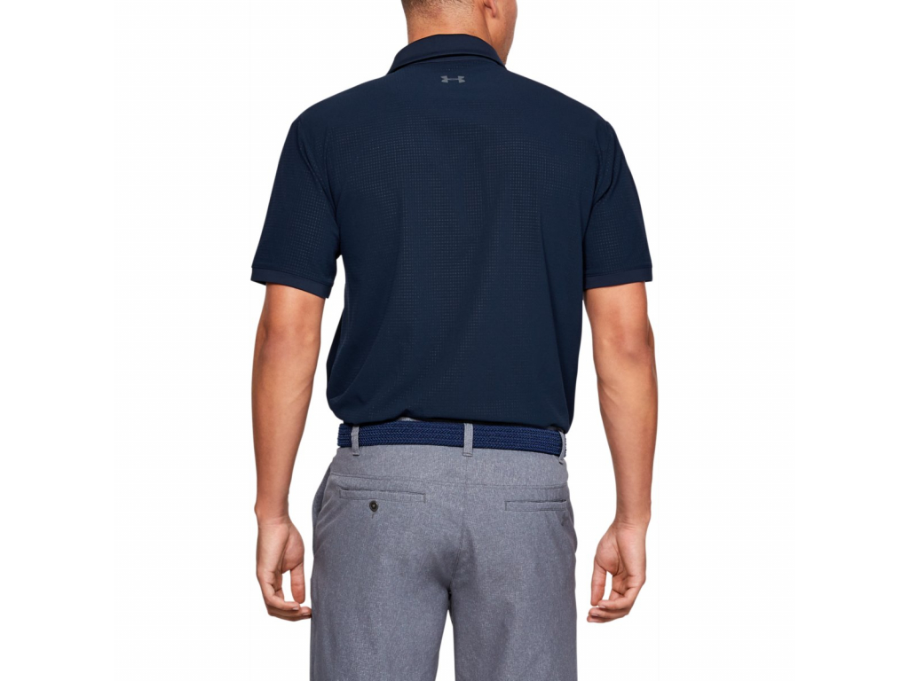 Under Armour Playoff Vented Polo, Academy, Pitch Gray