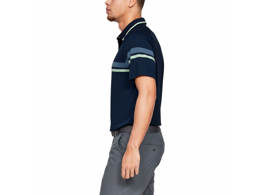 Under Armour Tour Tips Drive Polo, Academy, Pitch Gray