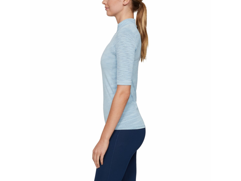 Under Armour Zinger Seamless Zip Polo, Coded Blue, Ink